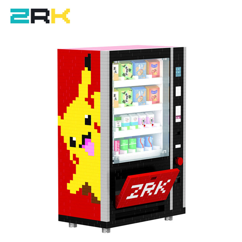 ZRK Diamond Particle Puzzle Assembled mini DIYBuilding Block Toy Creative DIY Gift 7823 Vending Machine toys birthday for boys