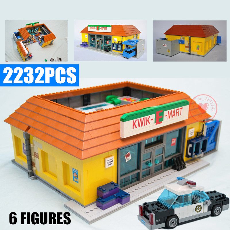 New Movie The Simpson Kwik-E-Mart House Villa Model Legoings Friends Building Blocks Bricks Fit 71006 71016 Toys Kids Gift