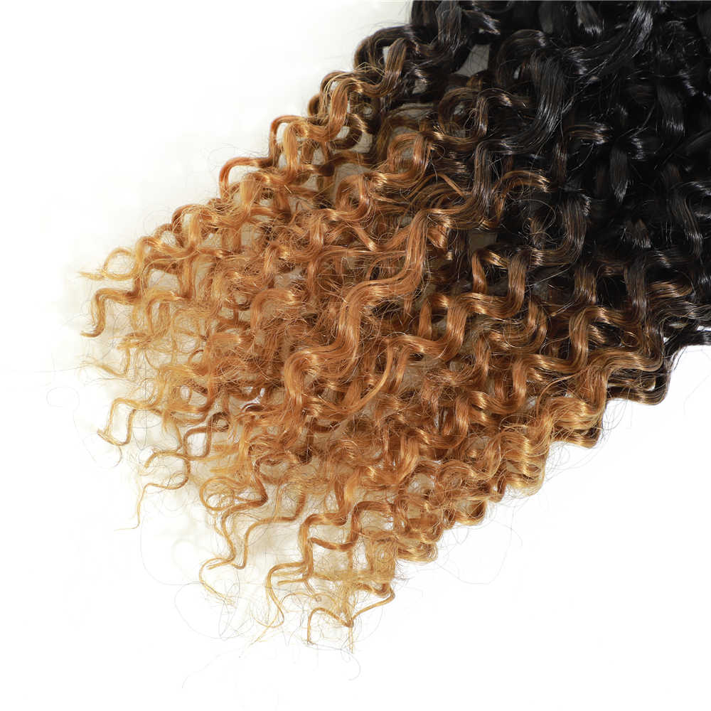 Image Hair Kinky Curly Hair Bundles 8Bundles/pack 240g One Pack Full Head Ombre Synthetic Hair Weave Jerry Hair Curly Extension