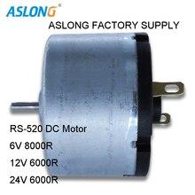 цена на 2pcs/lot High Speed 520 DC Motor With Various vibration block vibration motor 520 vibrating motor double shaft motor 6v 12v 24v