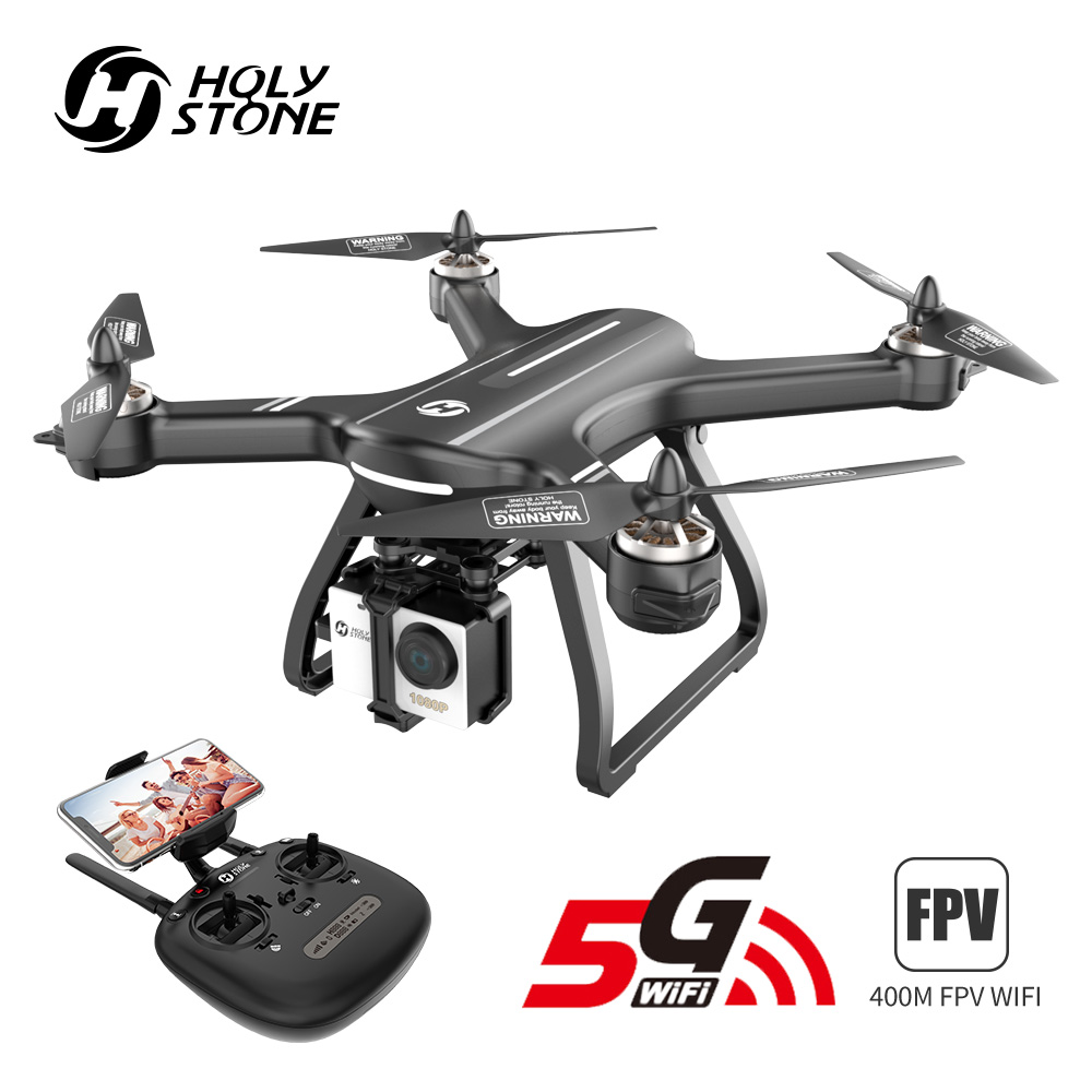 La piedra sagrada HS700 GPS Drone 5G con cámara Full HD 1080P Drone GPS sin escobillas 1km 1000M FPV Profesional Com Cámara Wifi Quadcopter