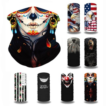 Outdoor Sports Motorcycle Cycling Half Face Cover Balaclava Scarf Face Mask Seamless Bandana Headband Dustproof Ring Scarves bjmoto cool skeleton skull motorcycle ski headband sport outdoor neck face mask mtb racing cycling windproof scarf balaclava