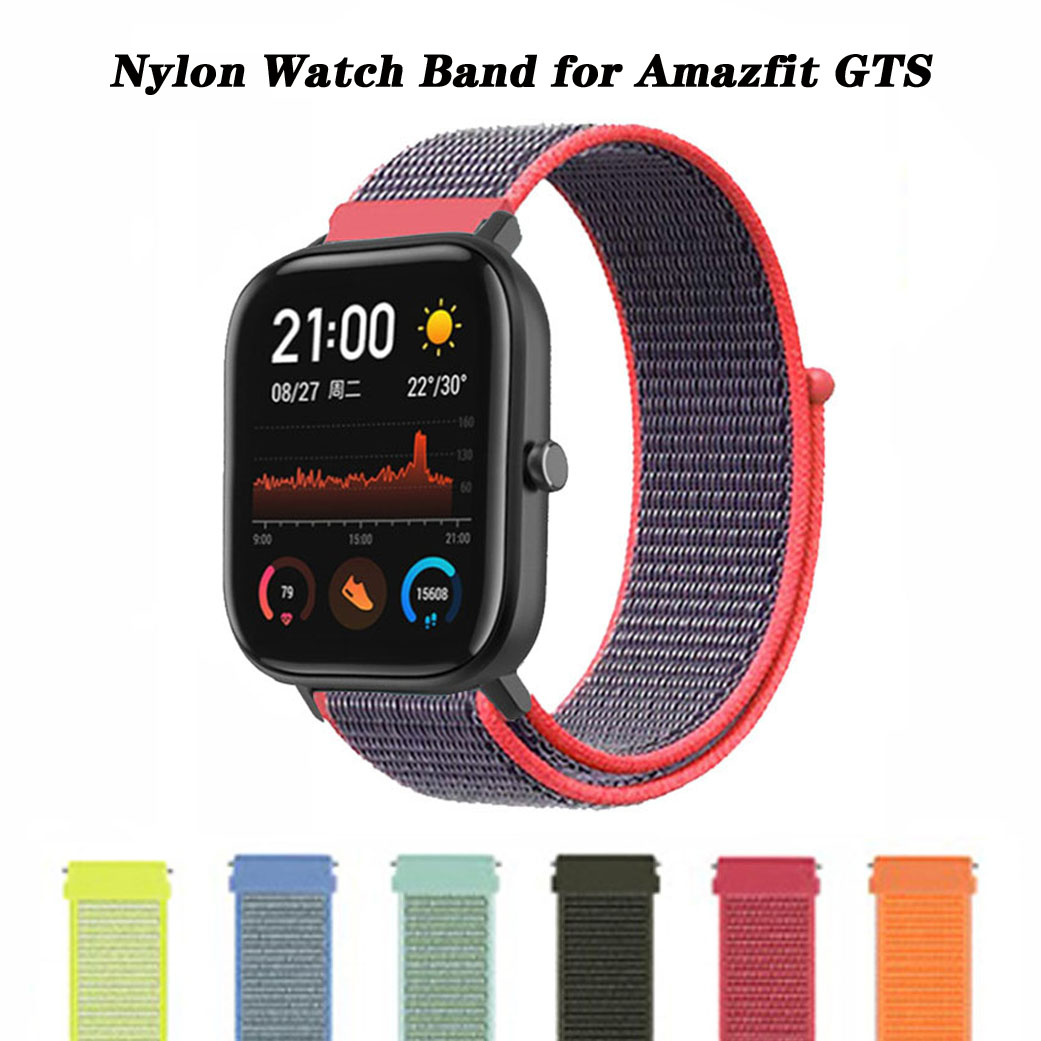 Nylon Loop Strap For Amazfit GTS Sport Woven Bracelet Watchband For Huami Amazfit Bip/GTR 42mm Accessories For Amazfit Bip Strap
