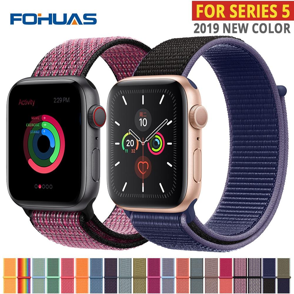 Nylon Strap For Apple Watch Band Series 5 42mm Iwatch 44mm Strap 38 Mm 40mm Iwatch Sreies 4 3 2 Pulseira Bracelet Watchband Belt