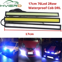 À prova dwaterproof água luzes diurnas auto lâmpada cob condução nevoeiro atualização ultra led dc 12v 17cm 2row 76 leds estilo automático