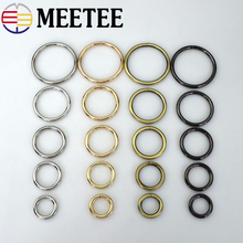 5pcs Meetee 20-50mm Metal D O Ring Buckle Openable Spring Snap Clasp Dog Collar Bag Strap Belt Clothes Accessories