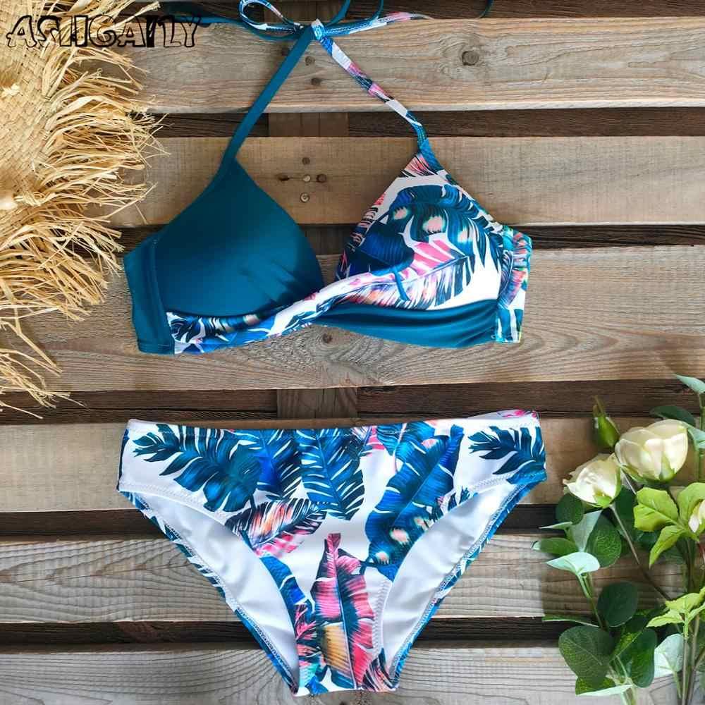 2020 sexy listrado maiô feminino push up bikini conjunto verão baixo cintura maiô plus size xxl