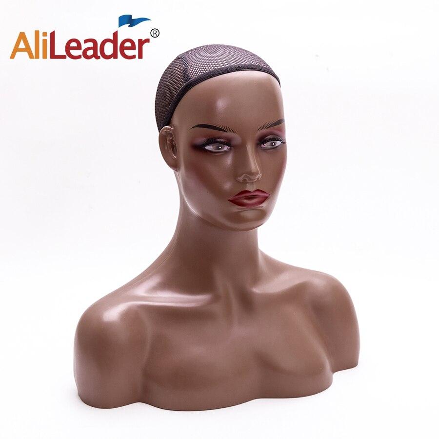 Cabeza de maniquí femenina americana africana con hombros para exhibición de pelucas, cabeza de maniquí realista con hombros para exhibir pelucas