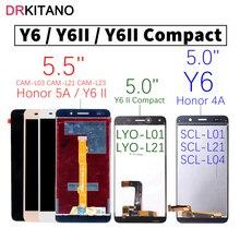 شاشة عرض LCD باللمس لهاتف هواوي Y6 II SCL L01 L21 L04 U31 U21 CAM L23 L03 L32 Huawei Y6 II شاشة LCD مدمجة LYO L01 L21
