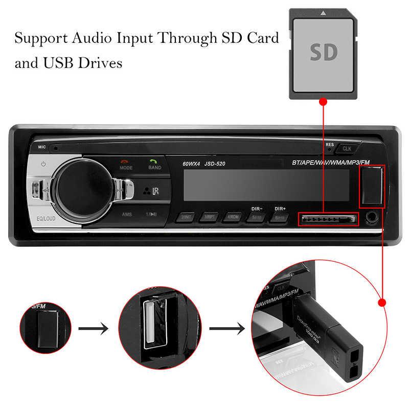 سيارة ستيريو MP3 مشغل موسيقى بلوتوث راديو السيارة 1Din 12 فولت USB Aux المدخلات TF بطاقة راديو تلقائي مع جهاز التحكم عن بعد الصوت ستيريو الموسيقى