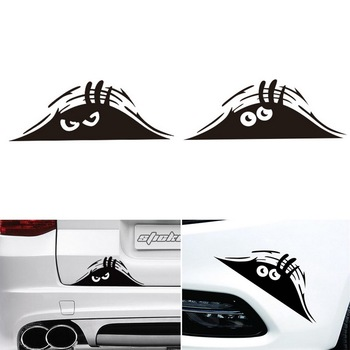 1Pcs Peeking Monster Scary Eyes Car Sticker Waterproof Self-adhesive Vinyl Decal Auto Decoration image