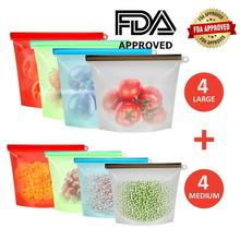 RASABOX - Silicone Food Storage Bags, Snack, Sandwich, Reusable, Airtight Zip Seal Preservation Bags