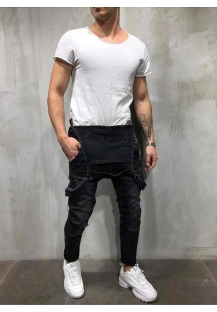 Men's Ripped Jeans Jumpsuits Work Coveralls Denim Bib Overalls For Male Retro Jeans Summer Sleeveless Protection Repairman (8)