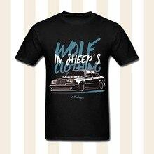 2020 girocollo Uomo Lupo in Veste Di Pecore E500 W124 Maglietta Freddo Car Design Tee Shirt