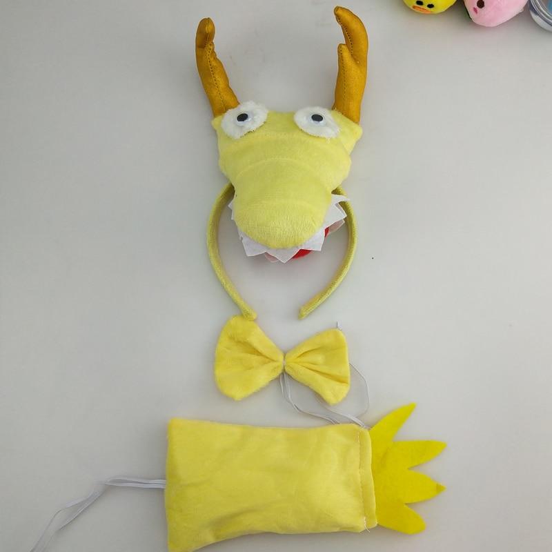 Детская повязка на голову с ушками животных для мальчиков и девочек; комплект с галстуком-бабочкой и хвостом для детей и взрослых; карнавальный костюм; вечерние аксессуары для волос - Цвет: 67