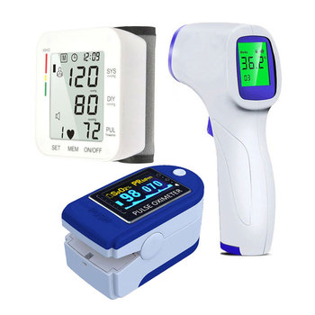 Automatic wrist Sphygmomanometer Blood Pressure Monitor Heart rate Tonometer Bp Monitors 1