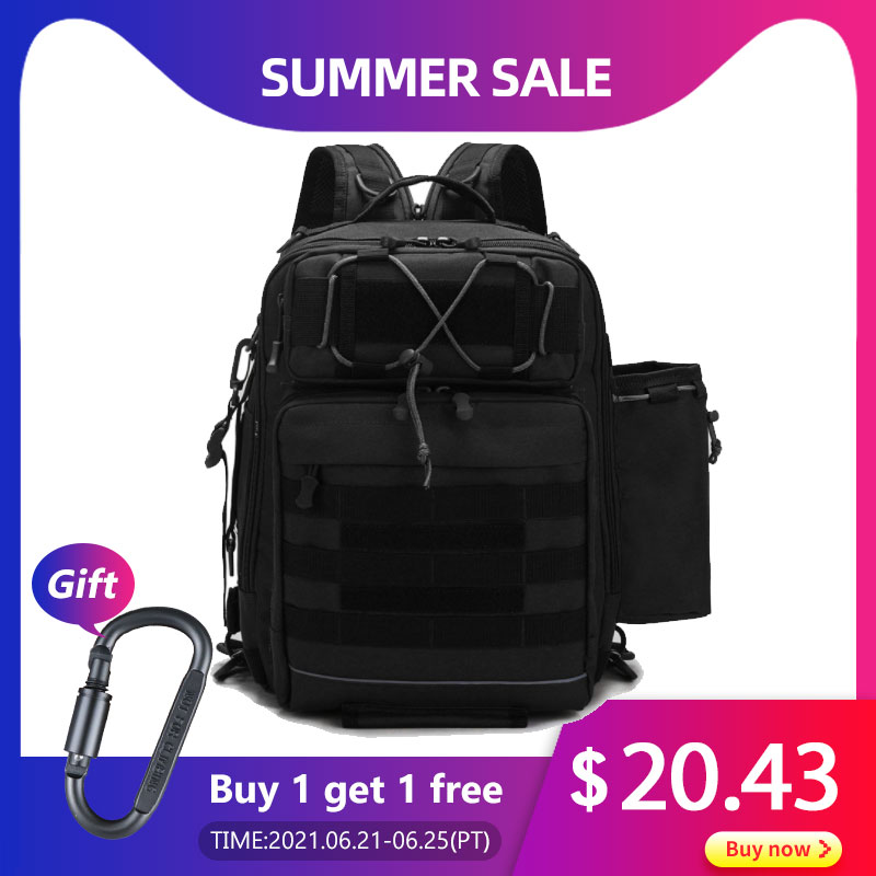 Crossbody Multifunction Fishing Bag Waterproof Tactical Backpack Climbing Outdoor Shoulder Sports Chest Bag For Men Women  X392G