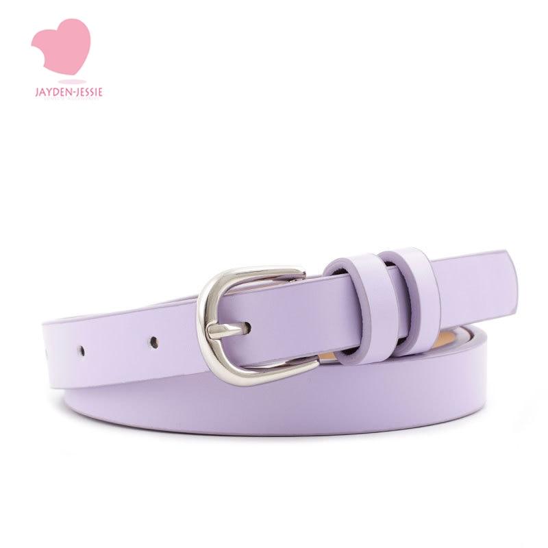 Punk  Harajuku  Pantsluxury Fashion Korean Thin Belt Dress Decorative Small Belt Wild Ladies Pin Buckle Belt Designer Quality