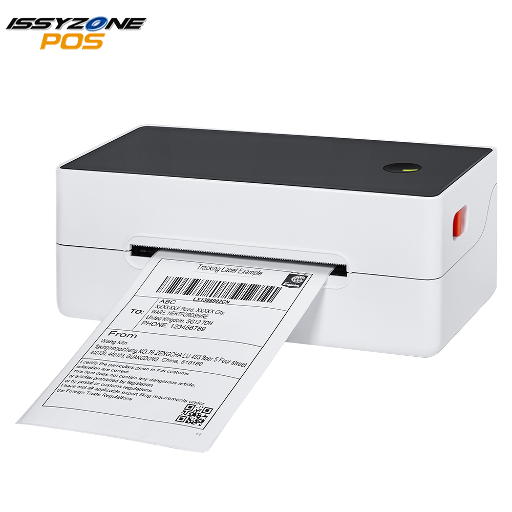 ISSYZONEPOS Thermal Shipping Lable Printer 38-108mm Paper Warehouse Express Printer Stiker Barcode Printer 4 Inch 4×6 Label USB