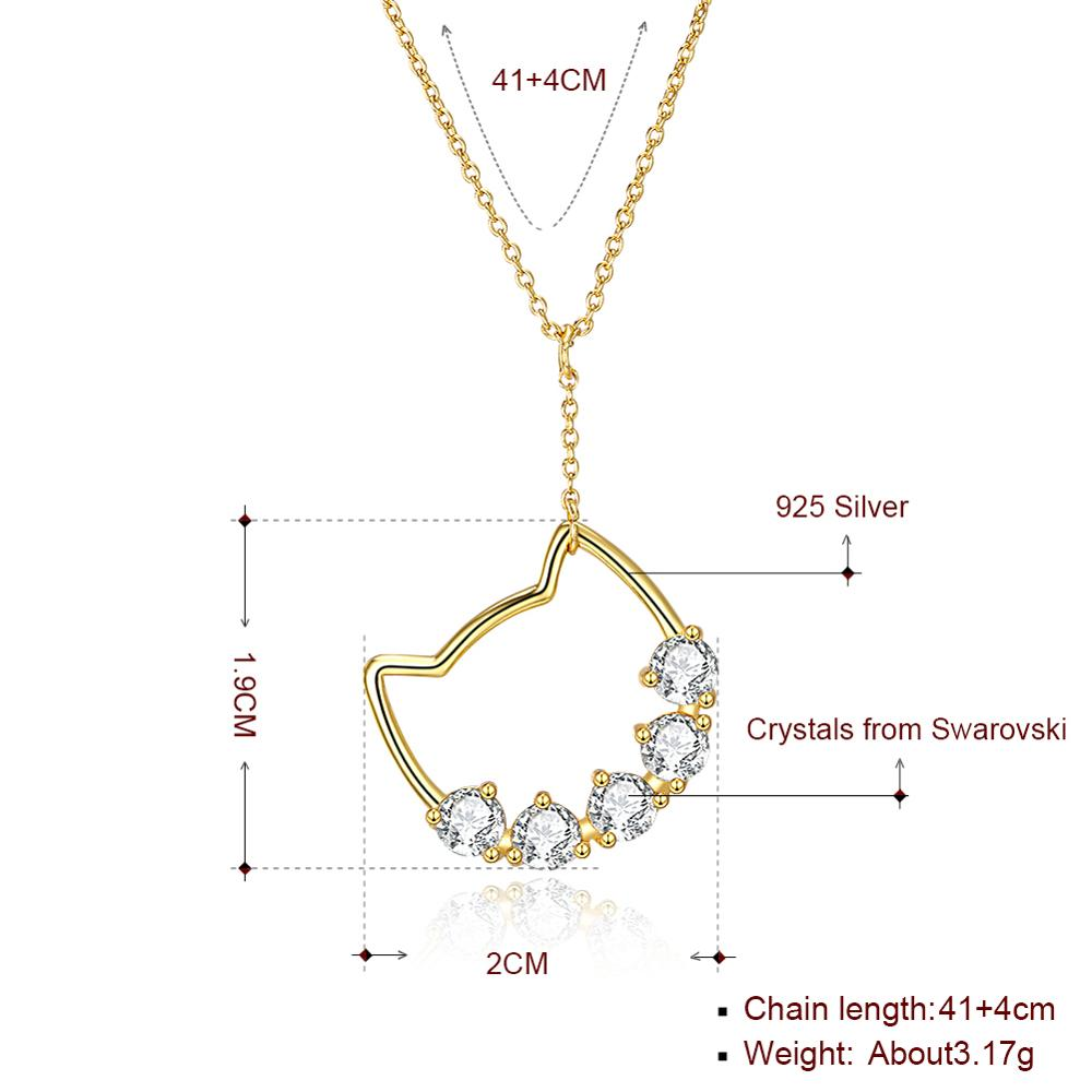 High Quality Cute Cat Pendant Fashion Women Casual Luxury Necklace 2019 New Jewelry in Pendant Necklaces from Jewelry Accessories