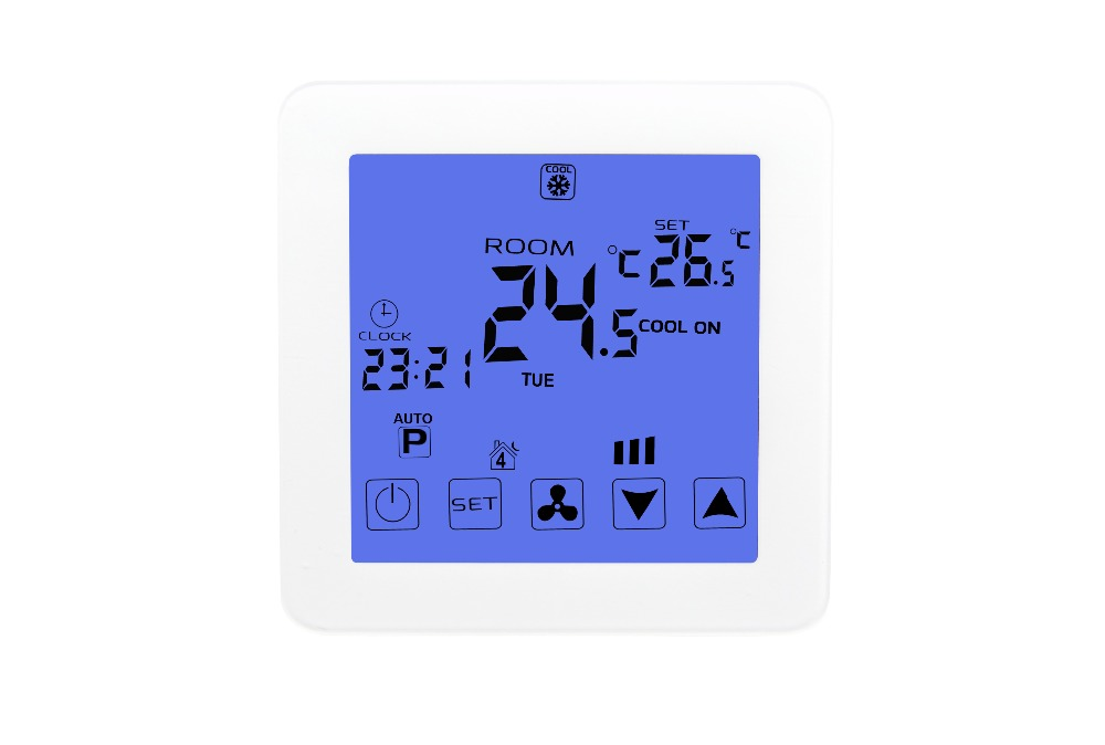 Smart Room Touch Screen Electric Thermostat Programmable Water Floor Heating Thermostat