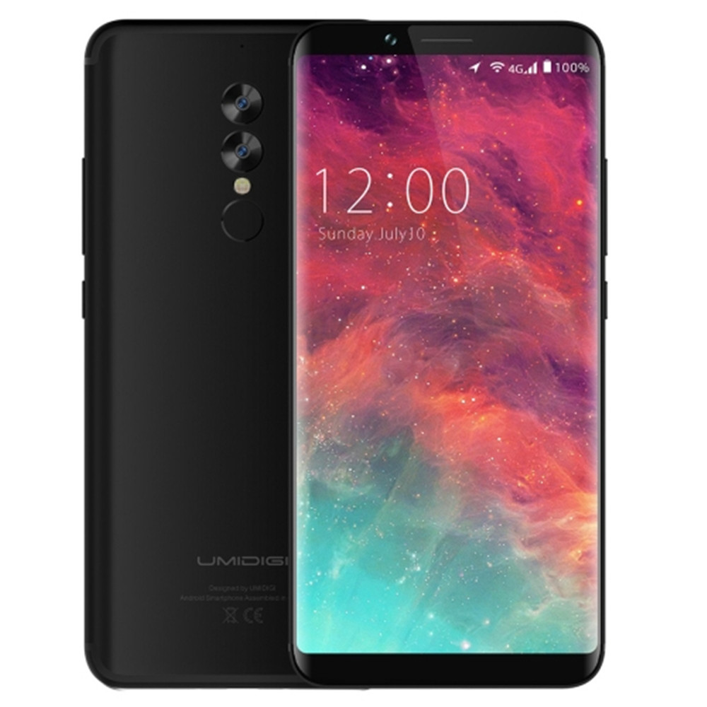 UMIDIGI NOA-N 4G LTE Entsperrt Smartphone 4GB RAM 64GB ROM 6.0 Full Screen 5100mAh Helio p20 Octa Core Fingerprint Handy