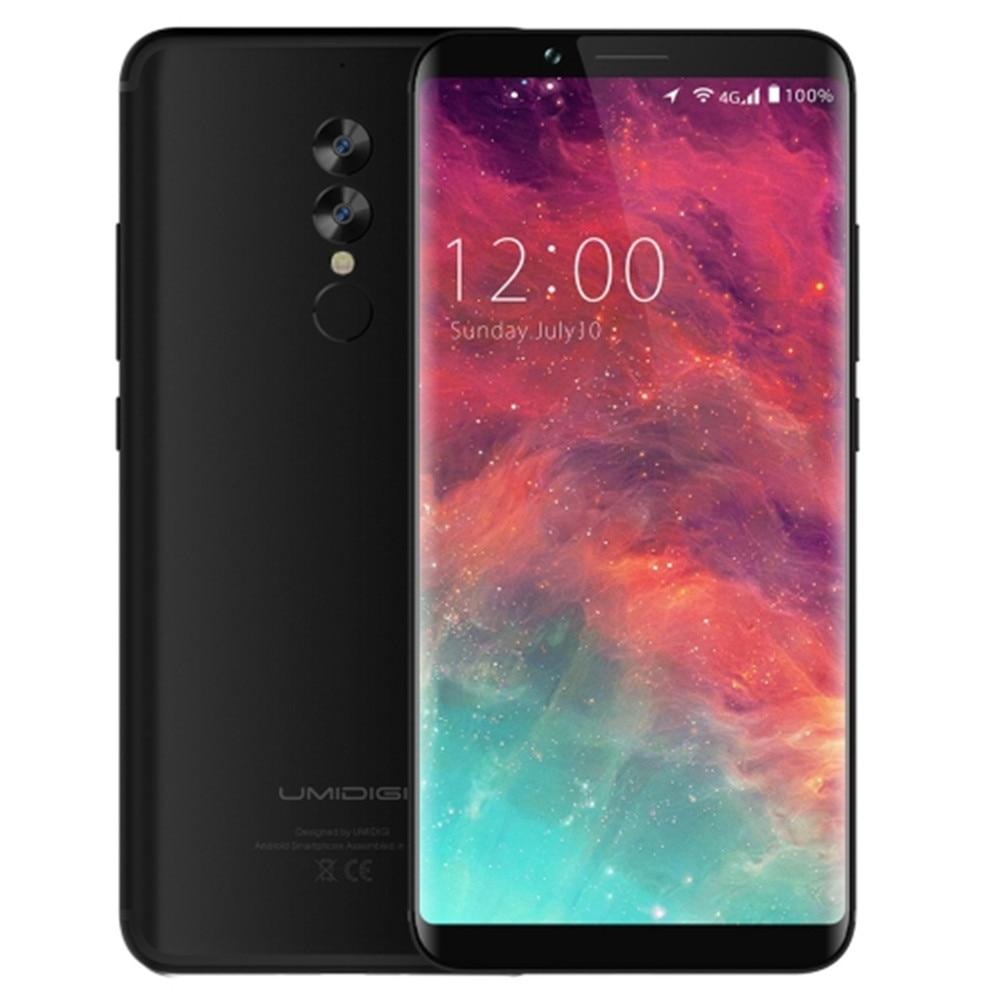 "UMIDIGI NOA-N8 4G LTE desbloqueado Smartphone 4GB RAM 64GB ROM 6,0 ""Pantalla Completa 5100mAh Helio P20 Octa Core huella dactilar teléfonos celulares"