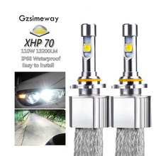 2PCS Car LED Headlight H11 Kit H4 H7 H8 H9 H16 9005 HB4 HIR2 xhp70 6000K 110W 13200LM 9004/7 H13  D2H D2S Auto Styling Fog Lamps
