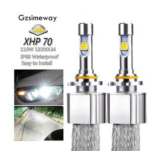 Image 1 - 2PCS Car LED Headlight H11 Kit H4 H7 H8 H9 H16 9005 HB4 HIR2 xhp70 6000K 110W 13200LM 9004/7 H13  D2H D2S Auto Styling Fog Lamps