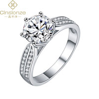 Cinsionze 100% 925 Sterling Silver Moissanite Rings 1ct/2ct/3ct 4ct Diamond Wedding Engagement Jewelry Gift For Women