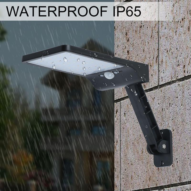 Upgraded 48 Led Solar Light 450LM PIR Motion Sensor Ip65 Waterproof Outdoor Street Wall Garden Lamp Rotable Remote Control