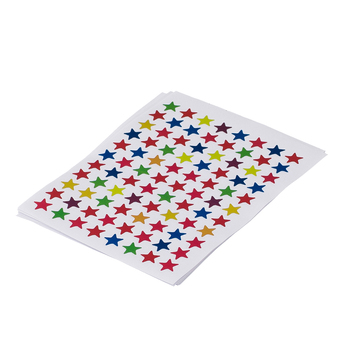 880 Pieces Star Shape Self-adhesive Peel And Stick Color Label image