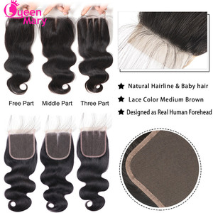 Image 5 - Peruvian Hair Bundles with Closure Body Wave Bundles with Closure 3 Bundles with Closure Queen Mary Non Remy 100% Human Hair