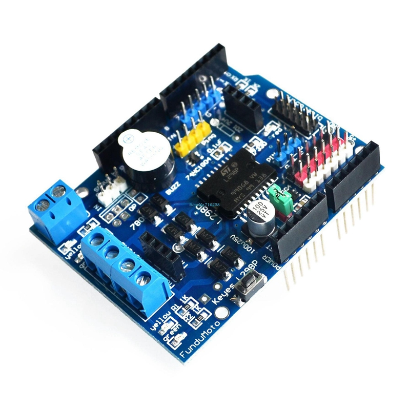 L298P Motor Shield Supports PWM/PLL Mode Motor Drive for Arduino UNO MEGA 2560