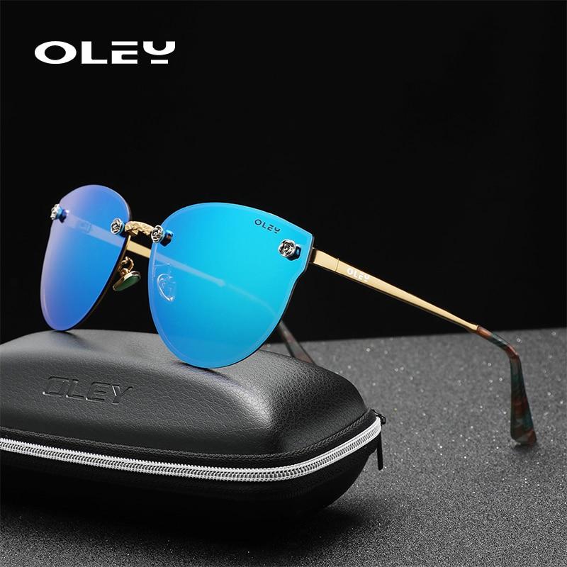 OLEY Polarized Ladies Sunglasses Women Gradient Lens Cat Eyes Sun Glasses Luxury Brand Oculos Lunette De Soleil Femme Y0271