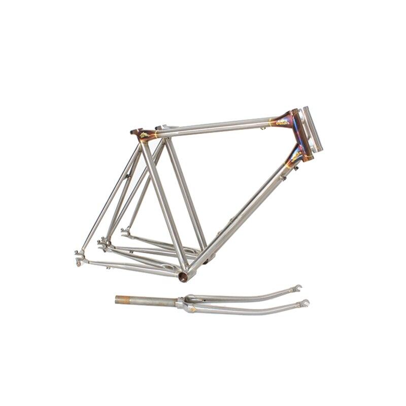 Chrome Copper Plated Frame Road Bike Frame  Sculpture Work Fixie Bike Frame 700 C Frame Customize  60cm 58cm