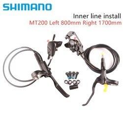 Shimano MT200 Línea interior inatall freno bicicleta mtb freno de disco hidráulico bicicleta de montaña Actualización de freno de M315 freno