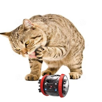 Rechargeable and Rolling Smart Pet Toys and Smart Robot Toys With Remote Control