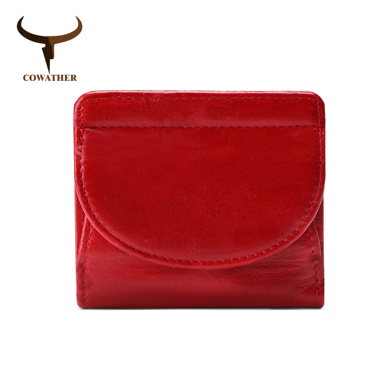 COWATHER Women Purse Multifunctional Wallet Top Quality Cow Genuine Leather Fashion Vintage Design Card Coin Holder Wallet