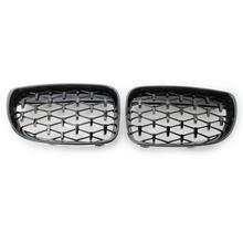цена на A Pair Diamond Grille Racing Grills For BMW 1 Series E87 118i 120i 125i 130i 2008-2012 Front Grill Car Styling Accessories