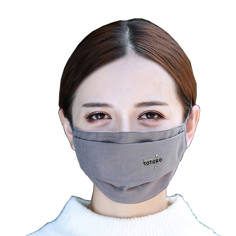1Pcs Fashion 3 Layer Face Mouth Mask Anti Dust  Filter Windproof Mouth-muffle Bacteria Proof Flu  S Care Reusable