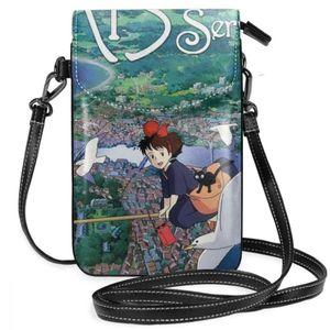 Image 5 - Ghibli sac à bandoulière en cuir, Mononoke Hime, sac à bandoulière Slim pour femmes, étudiantes tendances voyage de haute qualité