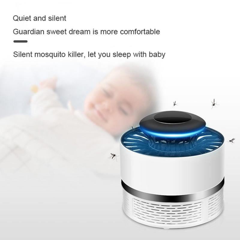 LED Mosquito Killer Lamp USB Electric No Noise No Radiation Insect Killer Flies Trap Lamp Anti Mosquito Lamp Home