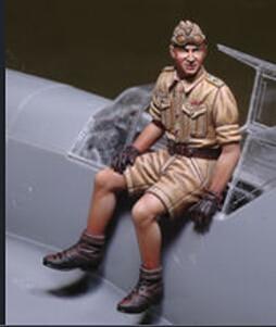 1/32 Pilot  NOT HAVE PLANE   Resin Model Miniature  Figure Unassembly Unpainted