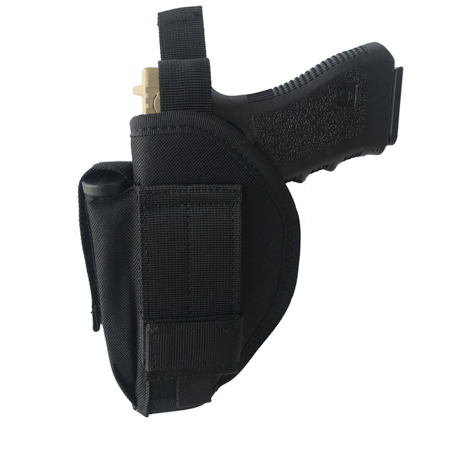 Tactical Pistol Gun Glock Holster with Magazine Pouch Concealed Carry Handgun Holder Fit Most Size for Right Hand 6
