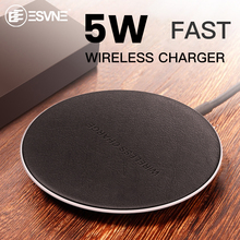 ESVNE 5W Qi Wireless Fast Charger For iphone Samsung S9 S10 Mobile Phone Xiaomi Huawei