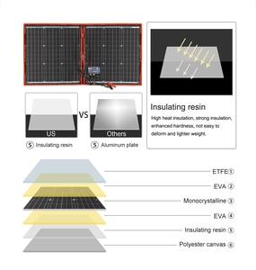 Image 2 - Dokio 18V 80W High Power Monocrystalline Flexible Faltbare photovoltaic Panel Reise & cell Telefon & camping portable solarzelle board + 12V USB controller Kit