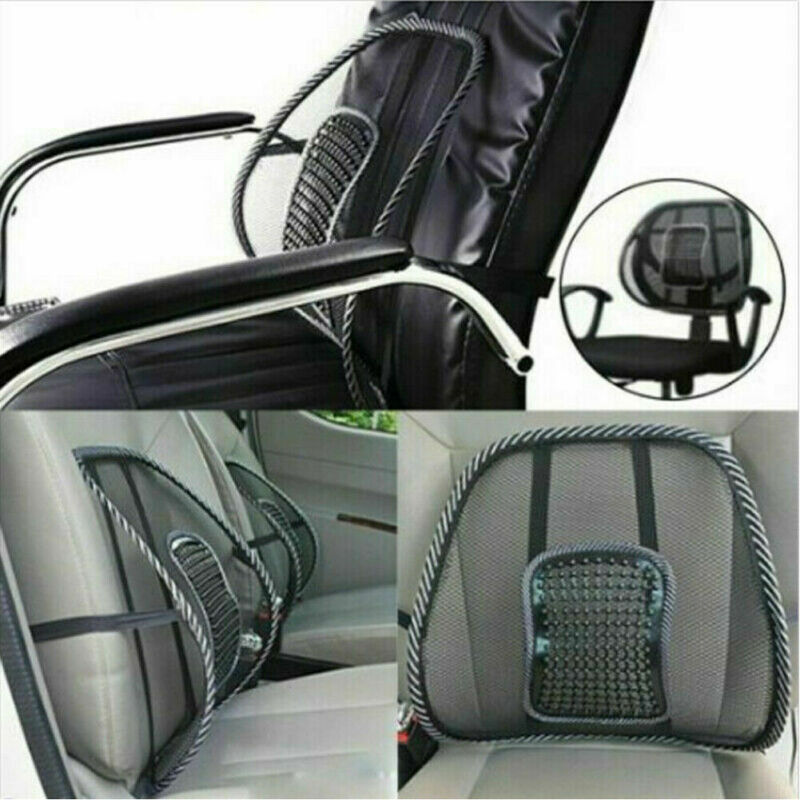 Car Seat Pad Car Interior Seat Cushion Black Hot Auto Care Cool Vent Massage Cushion Mesh Back Lumber Support Office Chair