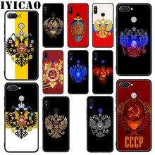 IYICAO Rusia bandera Escudo de Armas suave funda para Xiaomi Redmi 4A 4X 5A 5 Plus K20 6 Pro 6A 7A 8A 7 S2 Go Phone Case