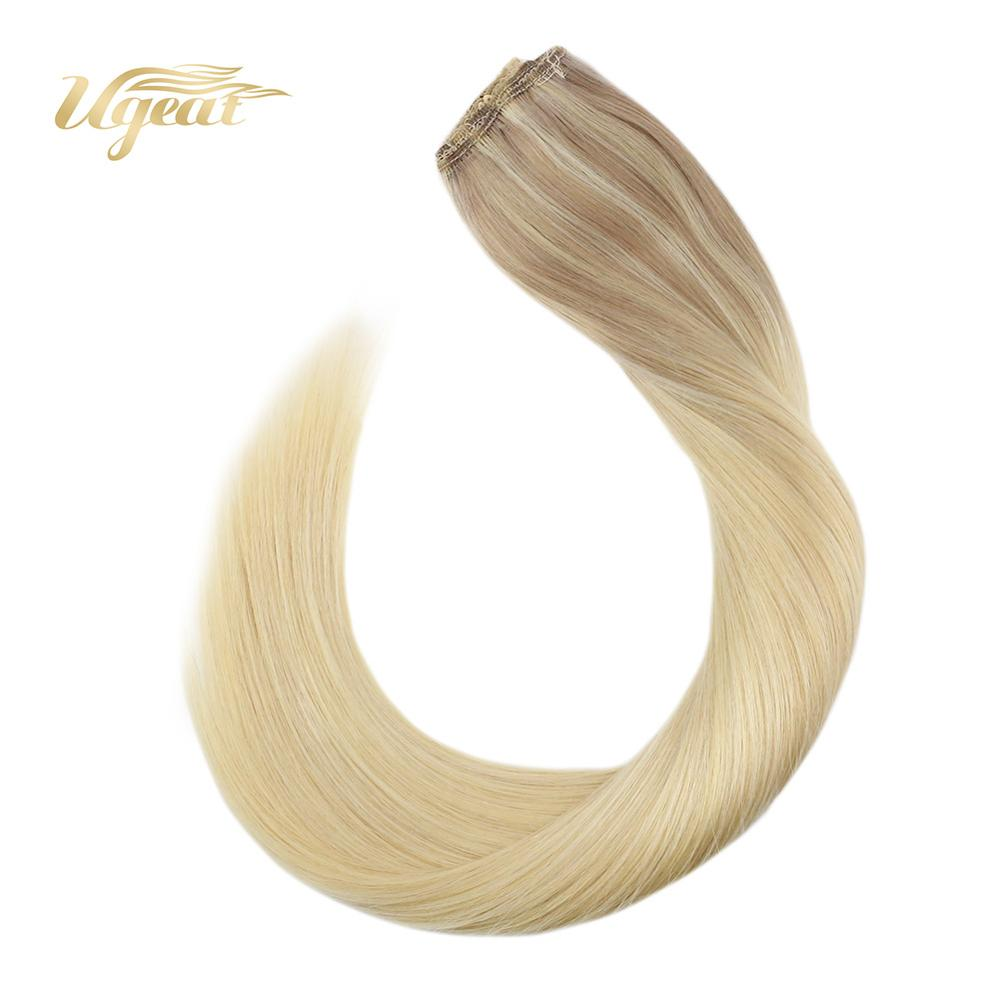 Halo Hair Extensions Straight Brazilian Human Hair Extensions 12-22